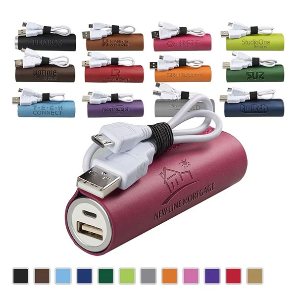 Promotional TuscanyTM Cylinder Power Bank