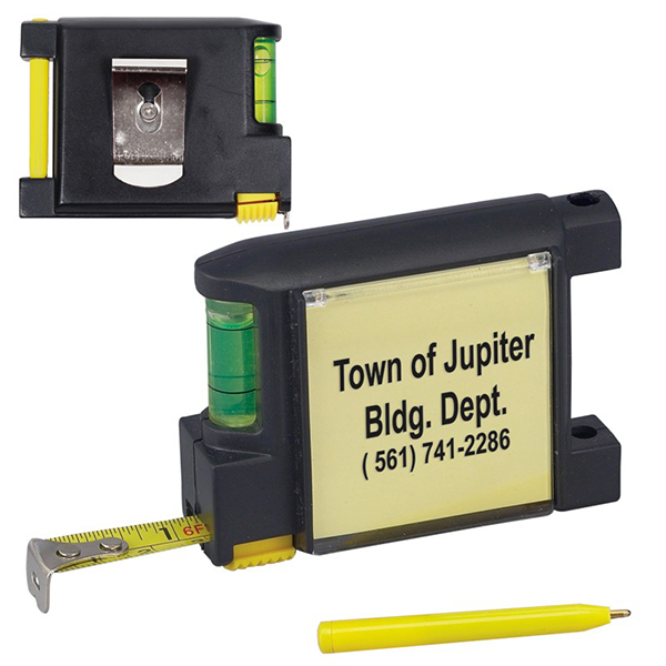 Promotional 6.5 FT. Level Notepad Tape Measure