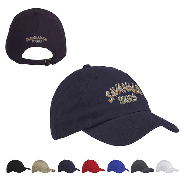 Promotional Big Accessories 6-Panel Brushed Twill Unstructured Cap