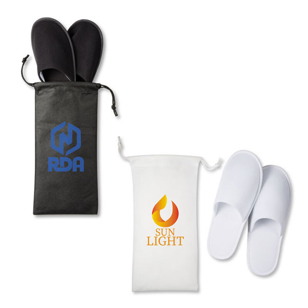 Promotional Travel Slippers in Pouch
