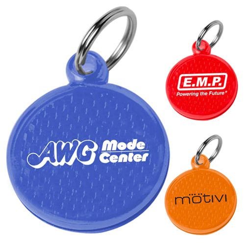 Promotional Round Reflector ID Tag
