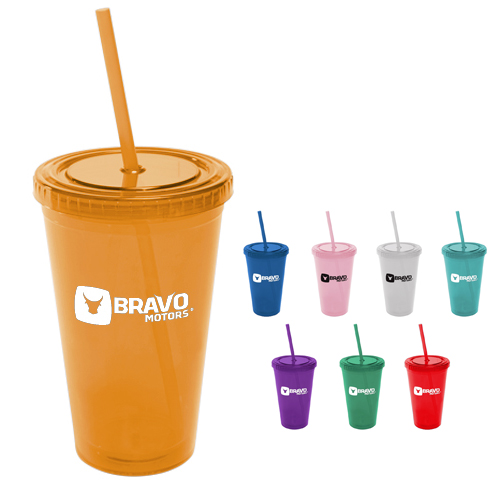 All Pro Acrylic Cup with Straw