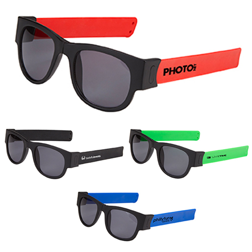 Promotional Snap-ItTM Folding Sunglasses