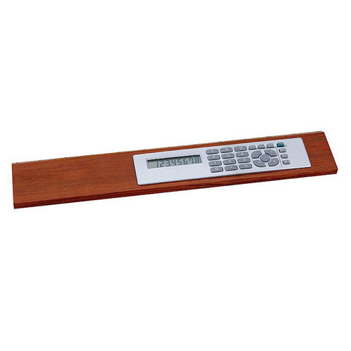 Promotional Rosewood Ruler with Calculator