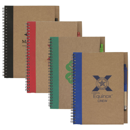 Promotional Colorful Recycled Notebook w/ Stylus Pen