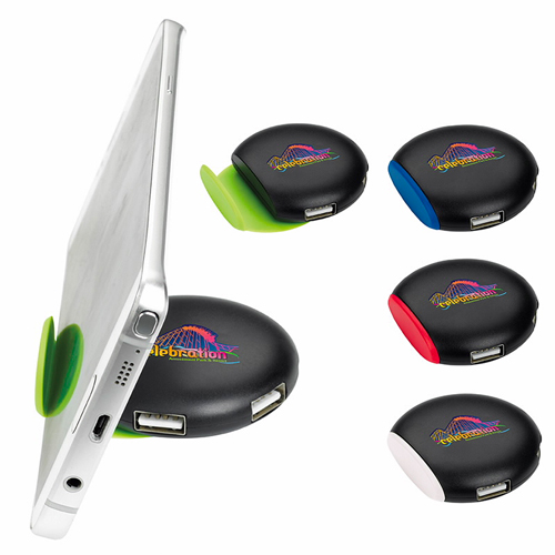 Promotional Round USB HUB Phone Stand