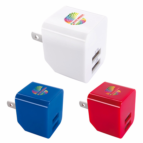 Promotional 2 Port Wall Adapter - 2.1 Amp