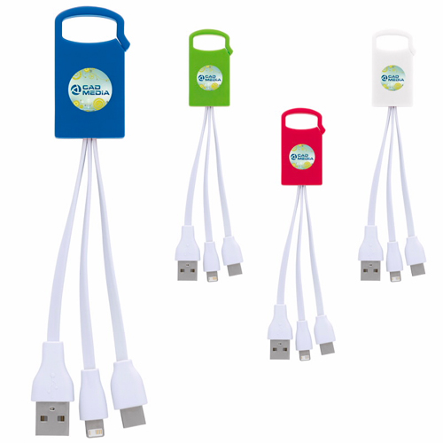 Promotional Dual Charging Cable with USB