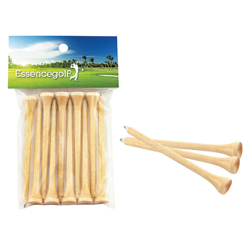 Promotional Teecil® Golf Tees with Card Topper