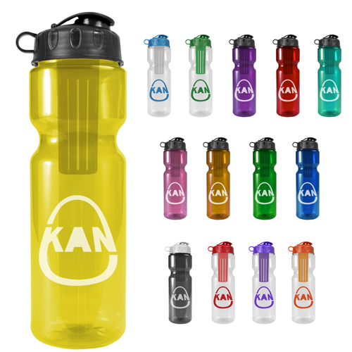 Promotional Infuser Bottle with Flip Lid 28 oz