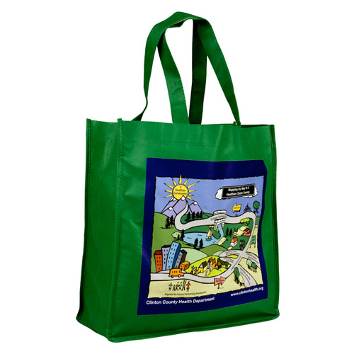 Promotional 13 Inch Non-Woven Tote Bag - 4 Color