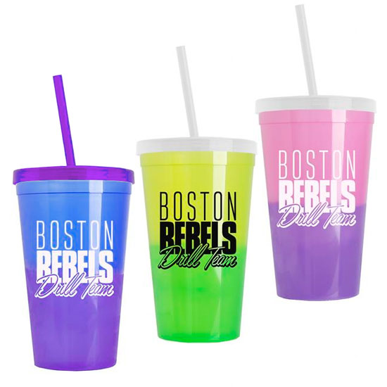Promotional Cool Color Change Straw Tumbler