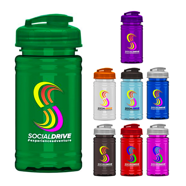 UpCycle Mini RPet Sports Bottle with USA Flip Lid