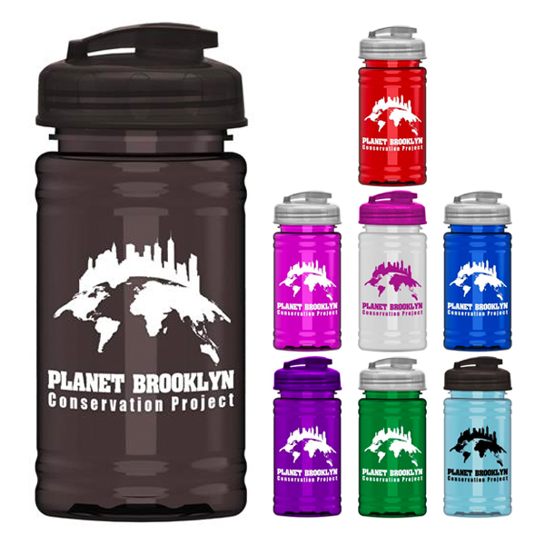 Promotional UpCycle Mini RPet Sports Bottle with USA Flip Lid