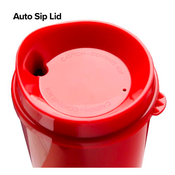 Double Wall Insulated Tumber with Auto Sip Lid-16 Oz.