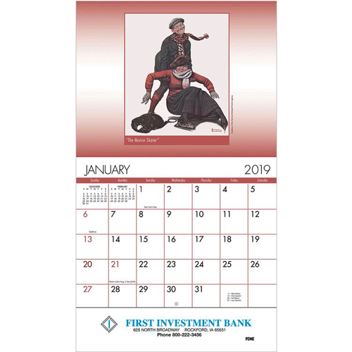 View Image 3 of An American Illustrator Wall Calendar