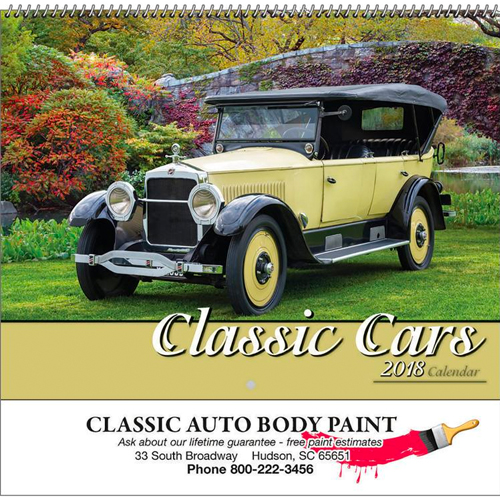 Promotional Classic Cars Calendar