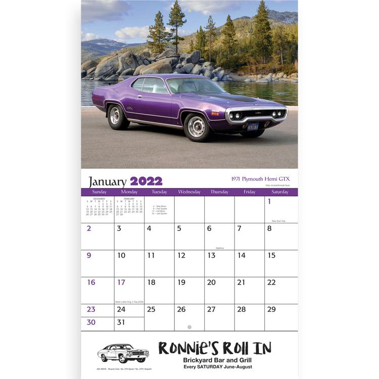 View Image 3 of Muscle Cars Calendar