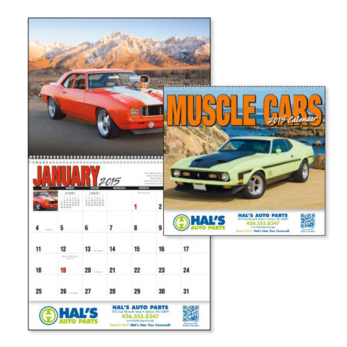 Promotional Muscle Cars 2015 Calendar