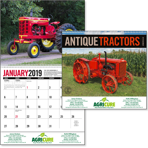 Promotional Antique Tractors Wall Calendar