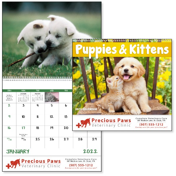 Promotional Puppies and Kittens Wall Calendar