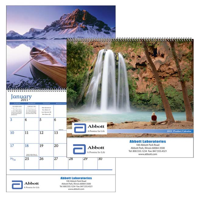 Promotional Custom Drop-Ad Appointment Calendar-Spiral