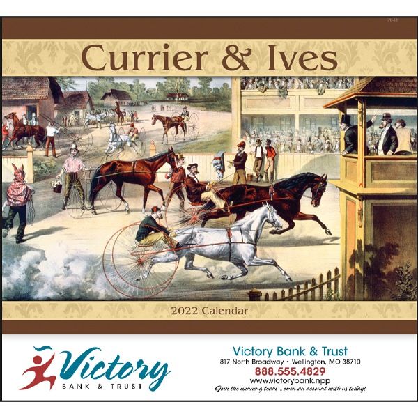 Promotional Currier & Ives Wall Calendar