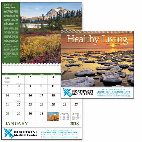 Promotional Healthy Living Wall Calendar