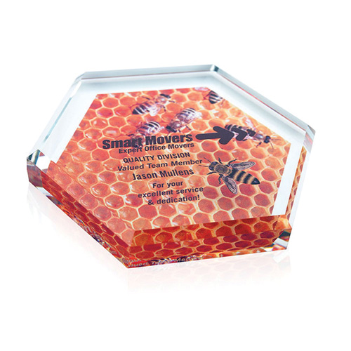 Promotional Hex Paperweight
