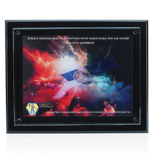 Promotional Floating Glass Plaque