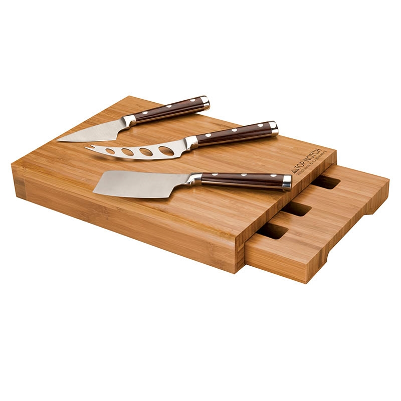 Promotional 4 Piece Bamboo Cheese Set