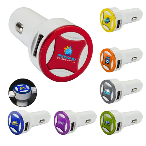 Promotional Ring Series 3.1 Dual USB Car Charger