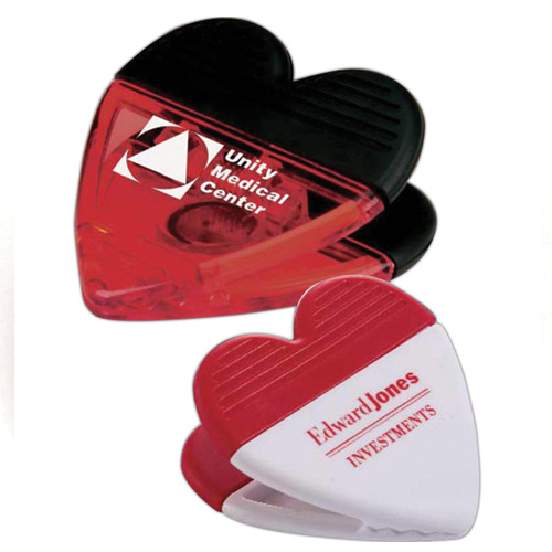 Promotional Heart Power Clip