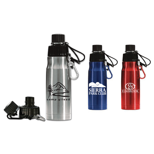 Promotional Stainless Steel Bottle with Carabiner