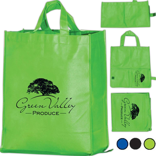 Promotional Tsura Folding Grocery Bag - Non-Woven