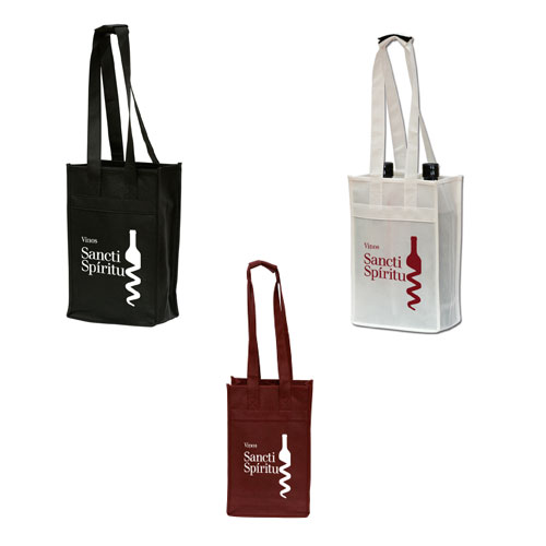 Promotional Polytex Wine Bottle Tote (2 Bottle)
