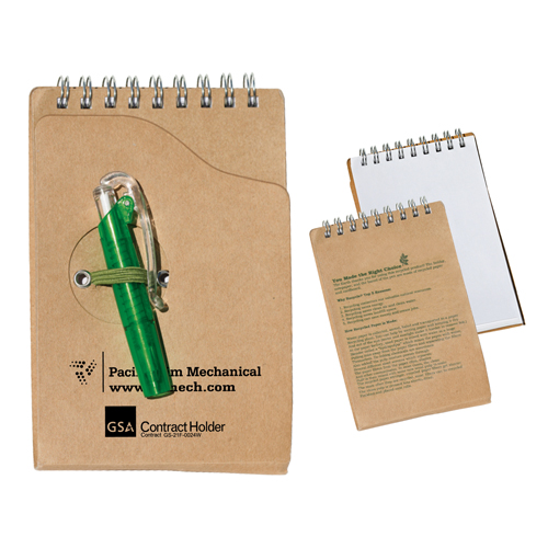 Promotional Recycled Jotter Pad With Pen