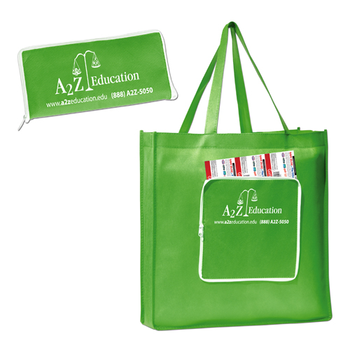 Promotional Polytex Zippered Fold-Up Shopper