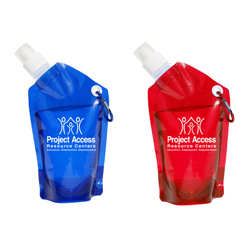 Promotional 12 ounce Collapsible Dromedary Water Pak - Dromedary Jr