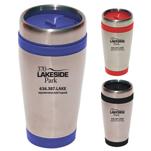 Custom Odyssey Stainless Steel/Plastic Travel Tumbler - 16oz