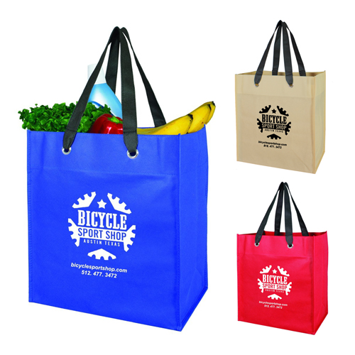 Promotional Monte Oversized Grocery Tote with Grommet
