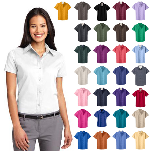 Promotional Ladies Easy Care Short Sleeve Shirt