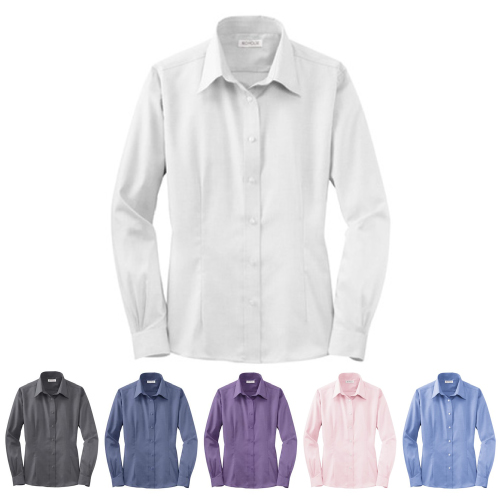 Promotional Ladies Pinpoint Oxford Shirt