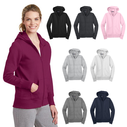 Promotional Sport-Tek® - Ladies Full-Zip Hooded Fleece Jacket