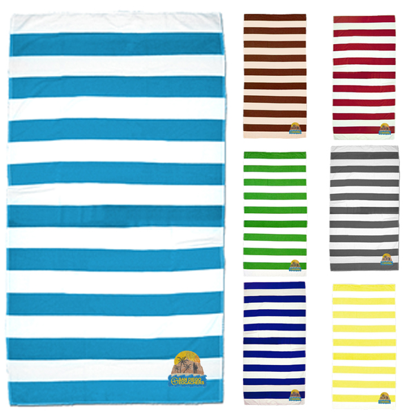 Promotional Cabana Stripe Beach Towel