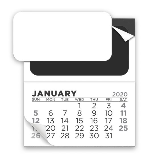 Promotional Add-a-Business Card Magnet Calendar