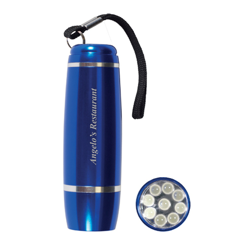 Promotional Barrel Flashlight - 9 LED