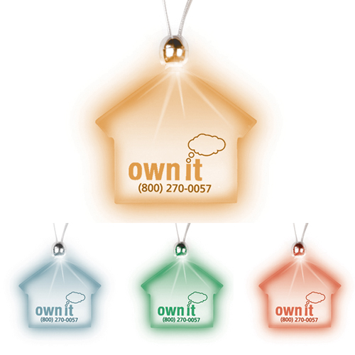 Promotional House Lighted Charm Necklace