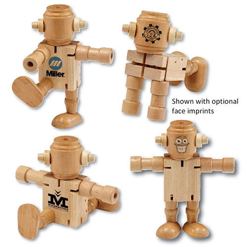 Promotional Wooden Poseable Robot