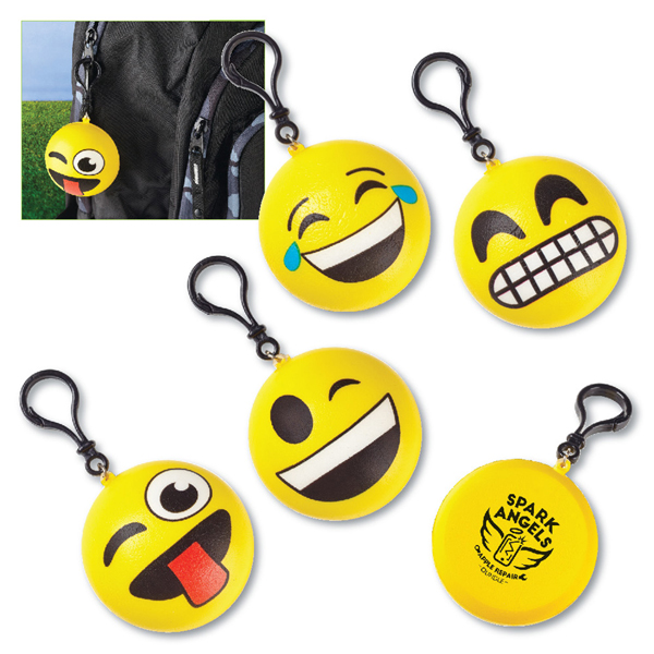 View Image 3 of Squishy Emoji Clip-Ons